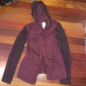 Burgundy utility jacket